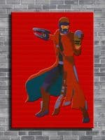 2010's Movie - GUARDIAN OF THE GALAXY - STARLORD RED / canvas print - self adhesive poster - photo